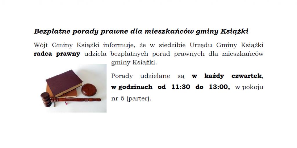 Bezpłatne porady prawne dla mieszkańców gminy Książki