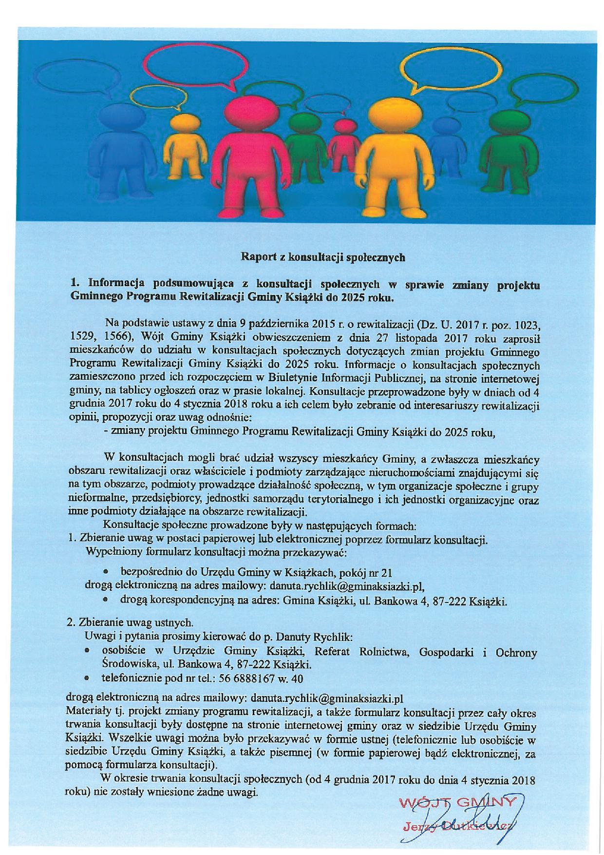 Raport z konsultacji spolecznych