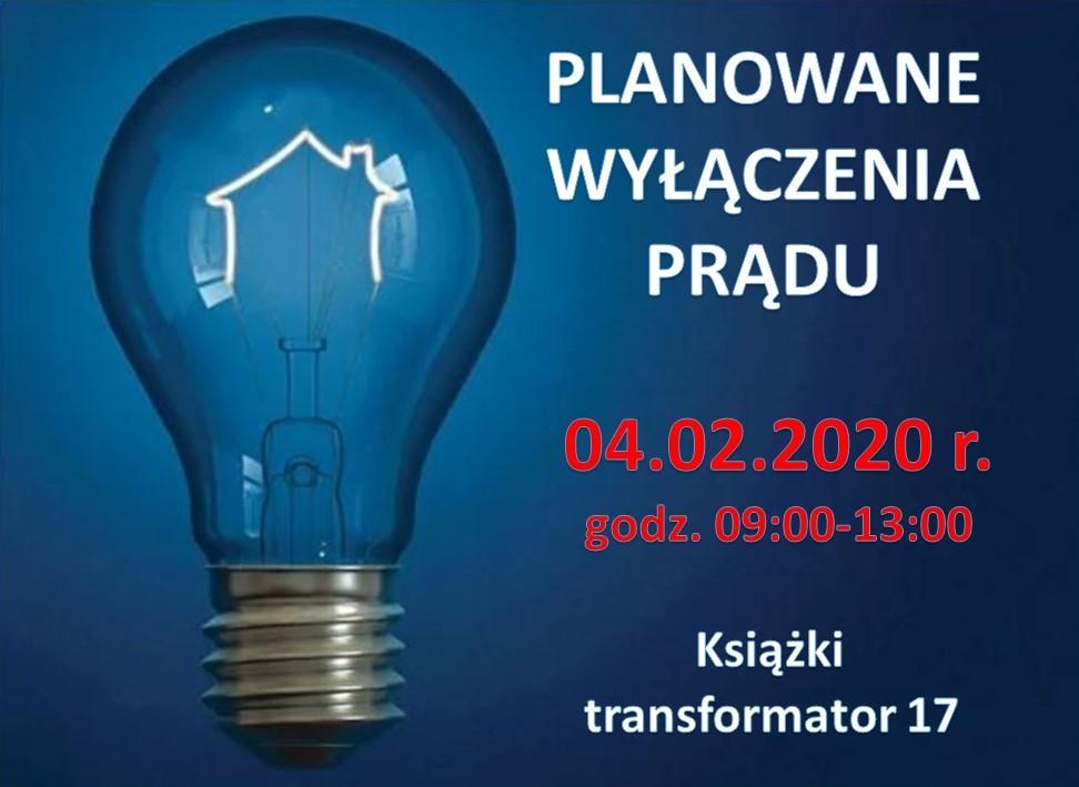 Planowe wyłączenie prądu - 04.02.2020 r. - książki 17