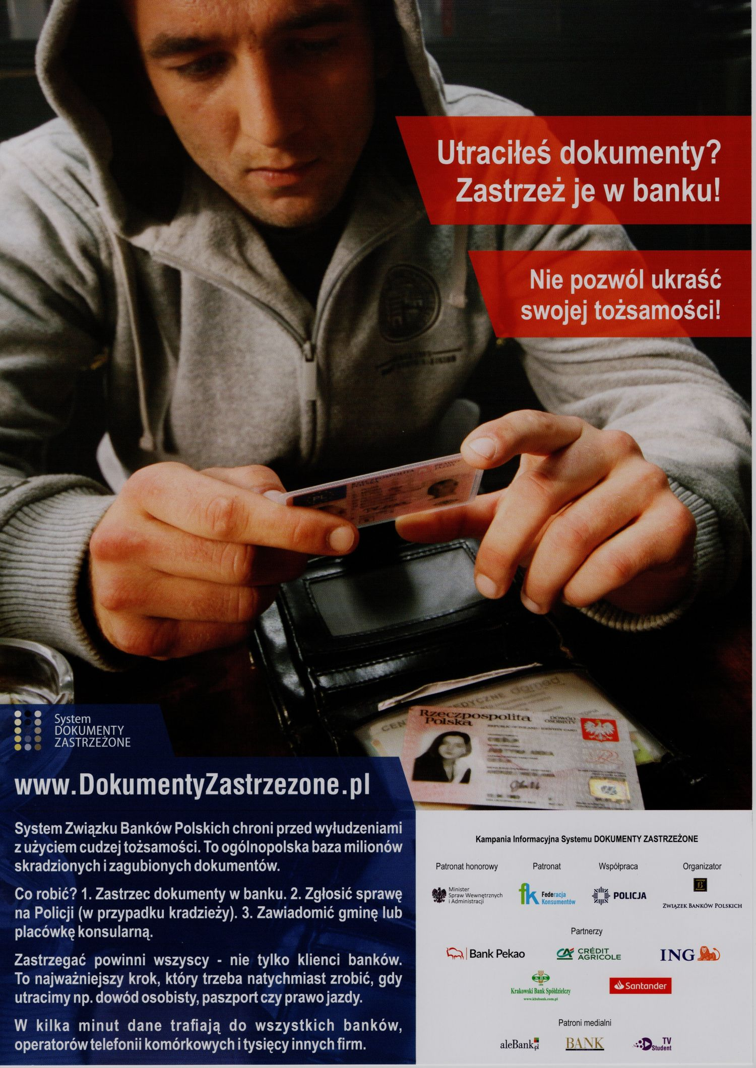 Plakat www.DokumentyZastrzezone.pl
