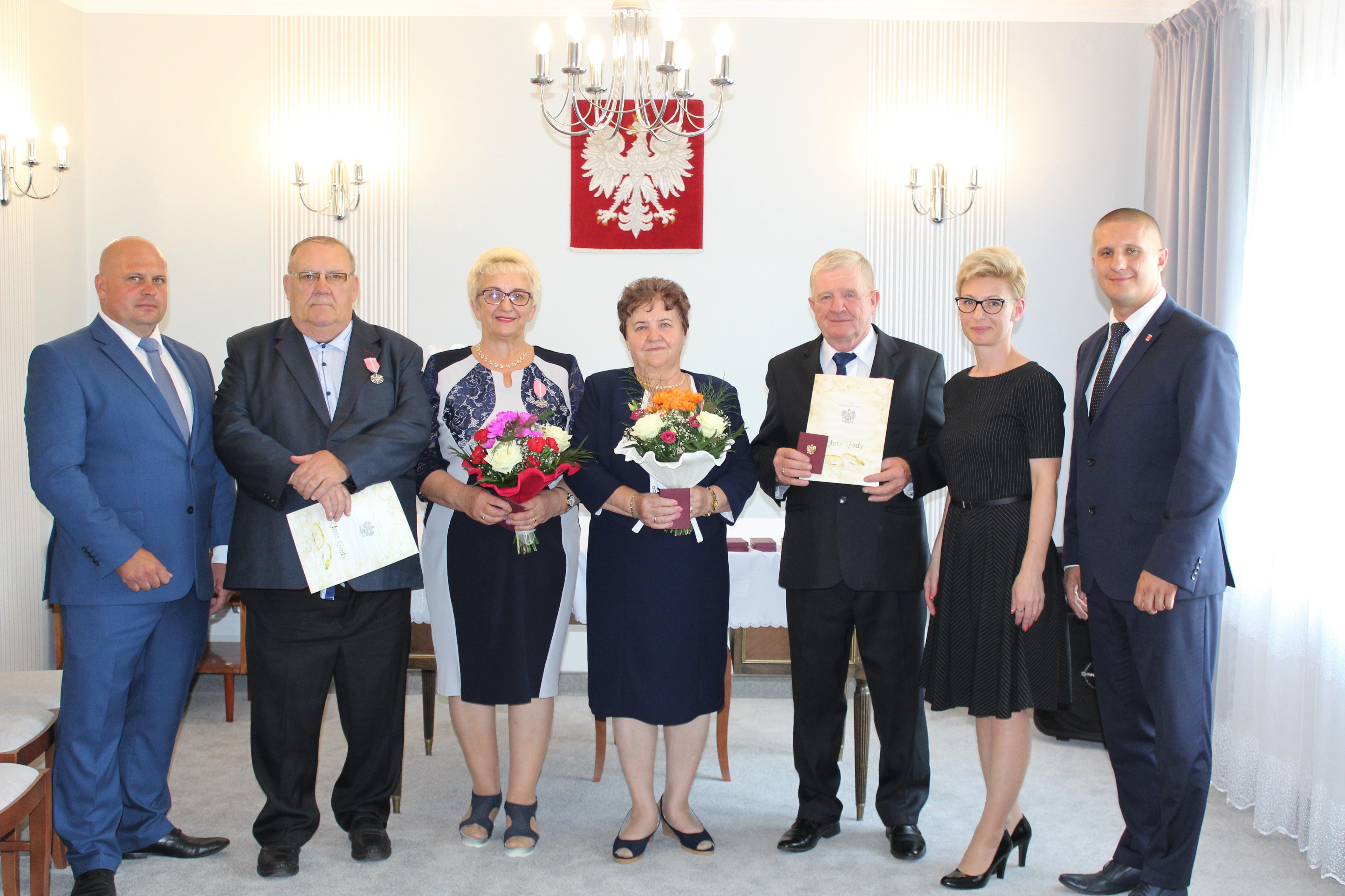 uroczystość z okazji jubileuszu 50-lecia pożycia małżeńskiego